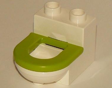 Duplo wit toilet met Lime bril