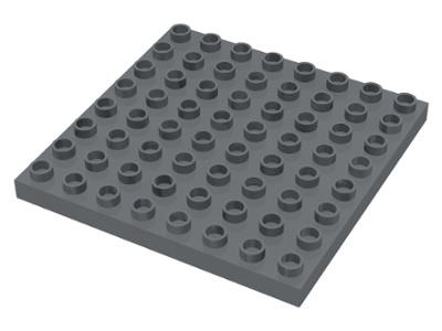 Duplo bouwplaat 8x8 donker grijs