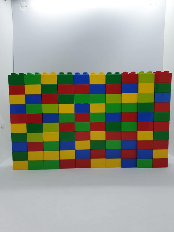 100 Blokken diverse kleuren