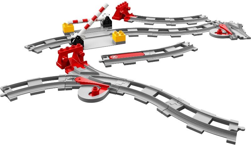 Lego Duplo trein 10875 10874 actiesteen met wit kruis symbool