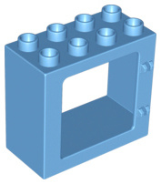 Raam frame licht blauw