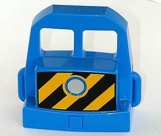voorkant trein locomotief blauw 5608