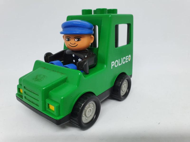 Politie auto groen