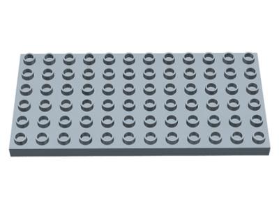 Duplo bouwplaat 6x12 parel licht  grijs