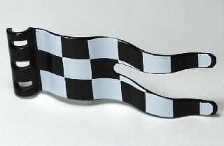Duplo vlag met zwart wit patroon