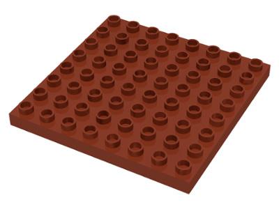 Duplo bouwplaat 8x8 bruin