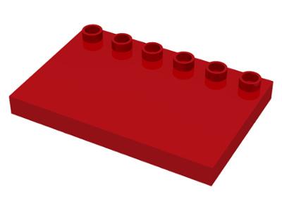 Duplo dakdeel rood 6 noppen