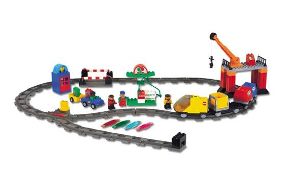 Lego Duplo intellitrein actiesteen met Octan logo - tanken