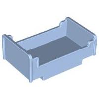 Duplo onderdelen : bed, lichtblauw