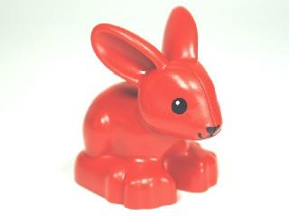 Lego Duplo boerderij dieren konijn rood