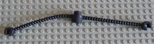 Duplo slang zwart met grijpers aan de uiteinden