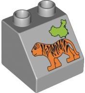 lego Duplo dierentuin blokje tijger