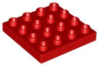 Duplo bouwplaat 4x4 rood