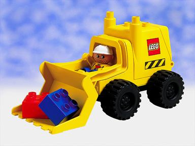 Lego Duplo 2807 Big Wheels Digger, Graafmachine