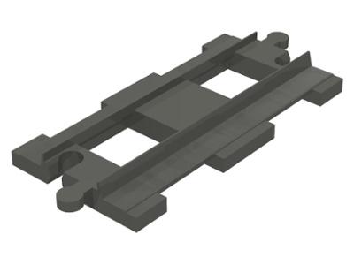 Duplo Treinrails - recht stuk oude kleur - donker grijs