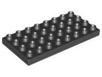 Duplo bouwplaat 4x8 zwart