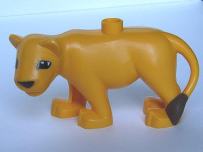 Lego Duplo dierentuin dieren :  volwassen leeuwin