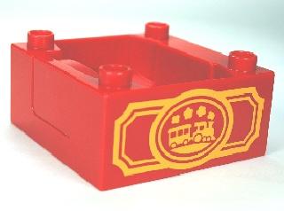 Duplo trein Cabine - Silo  - container met trein logo rood
