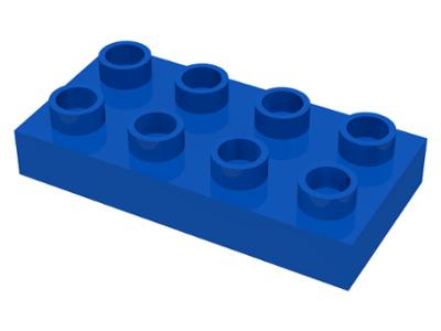 Duplo bouwplaat 2x4 x 1/2 blauw