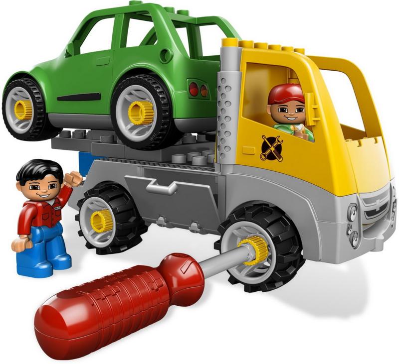 Lego Duplo drukte in de garage  5641