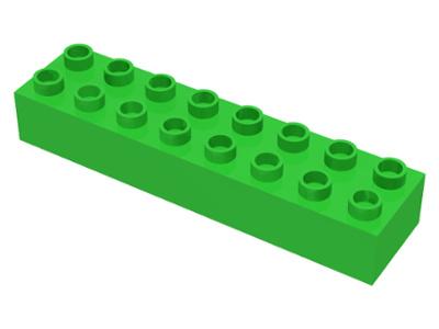 Duplo blokken : 2x8 duplo blokje licht groen nieuw