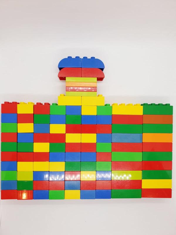 100 Losse Lego Duplo blokken diverse kleuren en maten