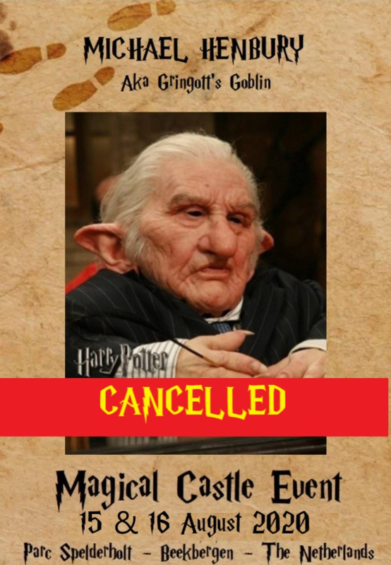 CANCELLED: Saturyday Autographic: Micheal Henbury aka Gringott Goblin