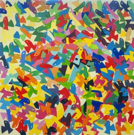 Een gepuzzel met vogels