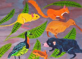 Dieren hebben het gezellig met elkaar