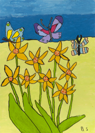 Bloemen en vlinder 2