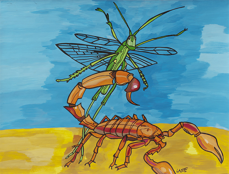 Schorpioen en krekel