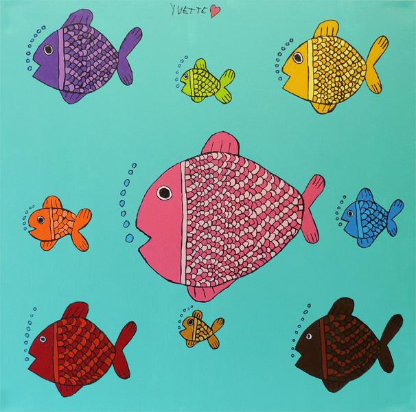 Oceaan met vissen