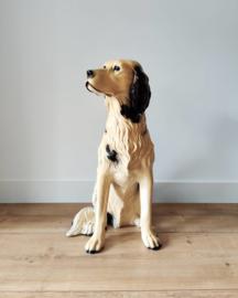 Vintage grote porseleinen hond