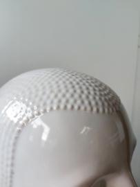Vintage wit keramisch hoofd