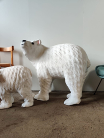 XL Vintage papier-maché  ijsberen