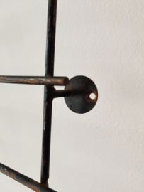 Vintage metalen wand kapstok