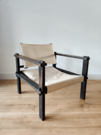 Vintage Gerd Lange safari chair