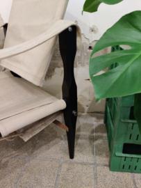 Vintage safari chair canvas met hout