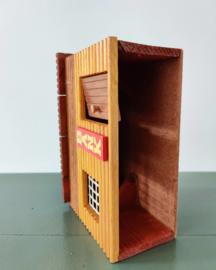Vintage verzameling houten cowboy speelgoed