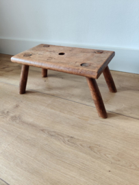 Vintage planten tafel vierkant hout