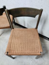 Vintage stoelen papercord