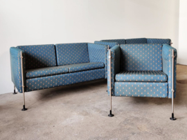 Vintage set Arflex Felix Design Burkhard Vogtherr Fauteuil en twee banken