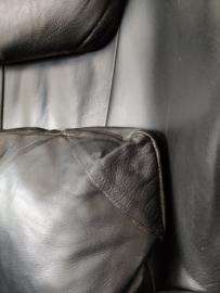 Vintage zwart leren DeSede DS-23 fauteuil