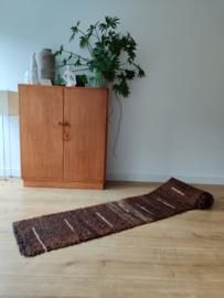 Vintage handgeknoopt wollen kleed / loper