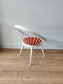 Vintage Yngve Ekstrom cirkel stoel