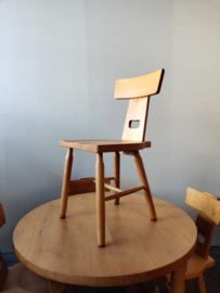 Vintage brutalist eettafel set, tafel met 4 stoelen