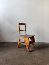 Vintage stoel, uit te klappen tot keukentrap