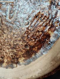Vintage xl vaas gemerkt in bruin tinten