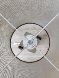 XL glazen vloerlamp met olijfgroene kap
