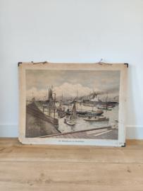Vintage Rotterdam Maashaven kaart